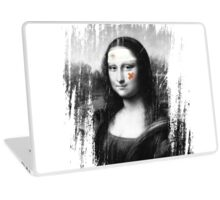 Restored Mona Lisa b Laptop Skin