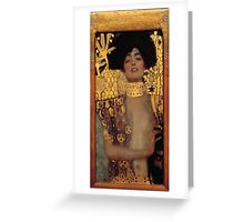 Judith and the Head of Holofernes by Klimt Greeting Card
