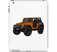 Two door orange Jeep wrangler iPad Case/Skin