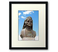Statue of a Warrior Framed Print