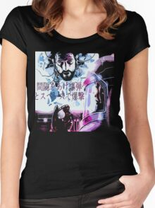 Bombed out in space with a spaced-out bomb ! Women's Fitted Scoop T-Shirt