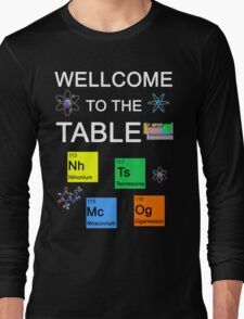 Periodic Table new elements: Nihonium, Tennessine, Moscovium, Oganesson (B) Long Sleeve T-Shirt