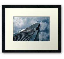 Blue Skyscraper Framed Print