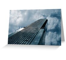 Blue Skyscraper Greeting Card
