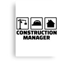 Construction manager Canvas Print