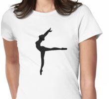 Ballet Ballerina Womens Fitted T-Shirt