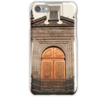 Carved Wooden Church Door iPhone Case/Skin