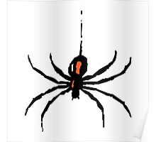 Artistic black widow spider ipad case Poster
