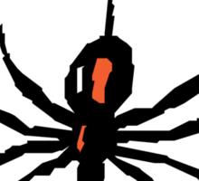 Artistic black widow spider ipad case Sticker