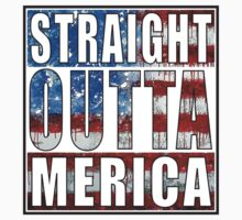 Straight Outta Merica One Piece - Short Sleeve