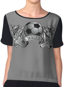 TOGETHER STRONGER WALES 3 Women's Chiffon Top