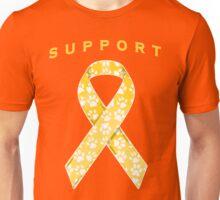 Animal Cancer Awareness Ribbon Unisex T-Shirt