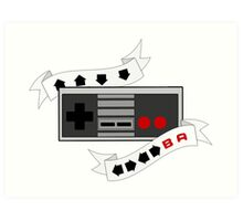 Unlimited Everything! Retro Controller Cheat Code Art Print