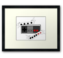 Unlimited Everything! Retro Controller Cheat Code Framed Print