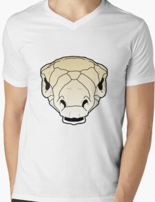 Ankylosaur skull Mens V-Neck T-Shirt