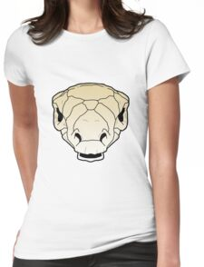 Ankylosaur skull Womens Fitted T-Shirt