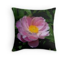 Peony Blossom in Pink.. Throw Pillow