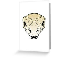 Ankylosaur skull Greeting Card