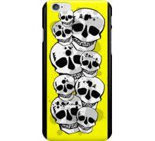 Black yellow white paint splatter skulls design iPhone Case/Skin