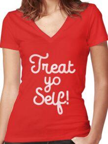 Treat Yo Self T-Shirt Women's Fitted V-Neck T-Shirt