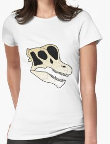 Brachiosaur skull Womens Fitted T-Shirt
