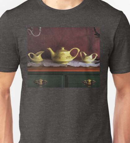 Vintage Yellow Tea Set - Selected in Solo Exhibition women in the arts Unisex T-Shirt