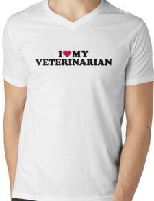 I love my veterinarian Mens V-Neck T-Shirt