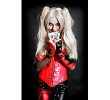 Harley Quinn Cards Photographic Print