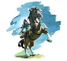Link from Zelda Wii U Photographic Print