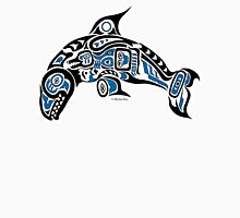 Haida Tlingit Killer Whale, Native American Orca - Blue Womens Fitted T-Shirt
