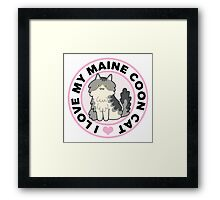 Maine Coon Cat T-Shirts Framed Print