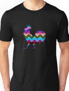 Rooster Chevron Unisex T-Shirt