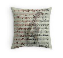 Score Bass Throw Pillow