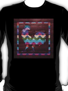 Rooster Chevron #2 T-Shirt