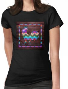 Rooster Chevron #2 Womens Fitted T-Shirt
