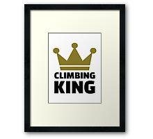 Climbing King Framed Print