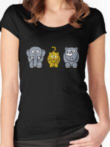 Zoo Safari4 Women's Fitted Scoop T-Shirt