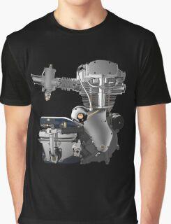 Velocette Thruxton Engine Graphic T-Shirt