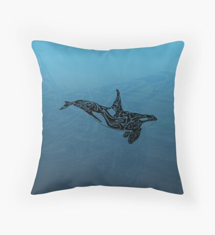 Tribal ~ Orca Whale Throw Pillow