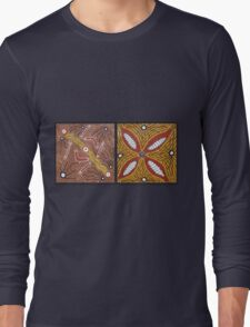 Boomerang, Spears Tribesman and Bush Food Long Sleeve T-Shirt