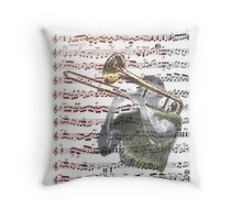Trombonist Score Throw Pillow