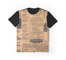 Old Newspaper Page Look Graphic T-Shirt