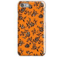 Orange Floral Phone Case iPhone Case/Skin
