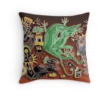 crowchina 2 Throw Pillow