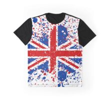 UK Union Jack Splash Colors Flag Graphic T-Shirt