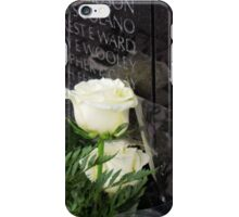 White Roses on the Vietnam Memorial in Washington D.C iPhone Case/Skin