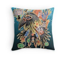 crow for gerry Throw Pillow