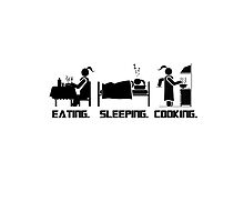 Eating. Sleeping.Cooking Female T-Shirt by CroDesign
