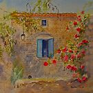 Blue shutters Provence by Beatrice Cloake