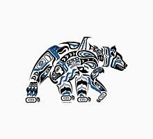 Kodiak - Original Haida, Tlingit Grizzly Bear Art - Blue Classic T-Shirt